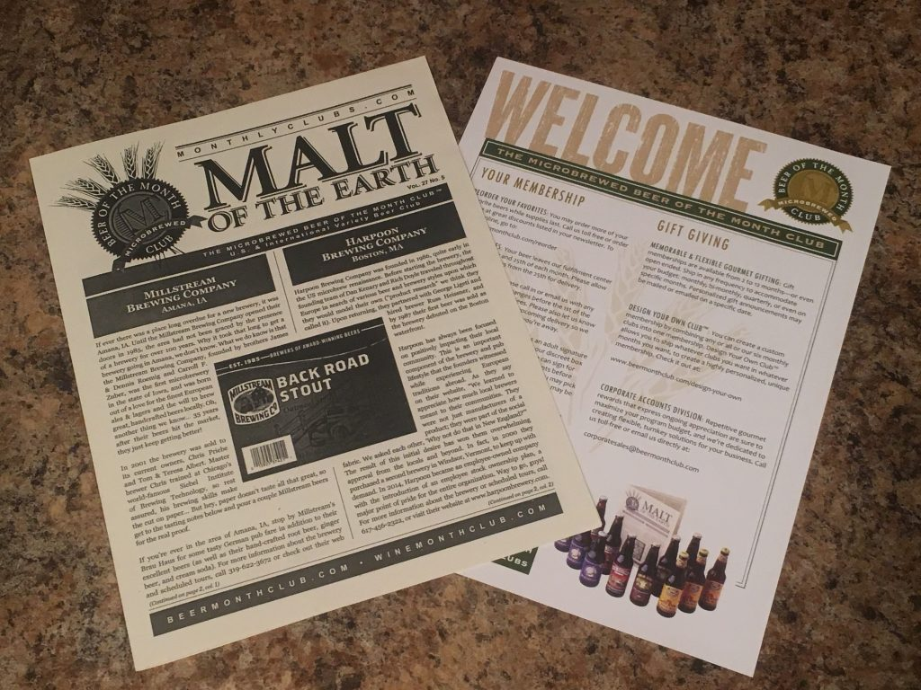 malt of the earth newsletter