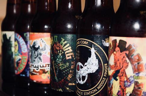 assortment of craft beer