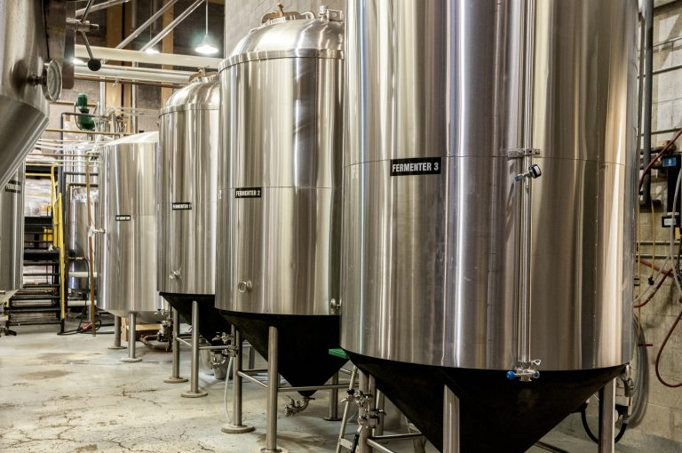 picture of stainless steel fermentation tanks
