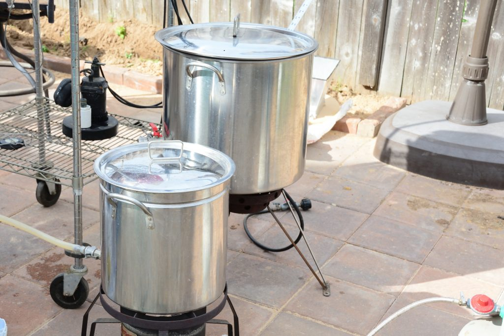 picture of beer brewing kettles