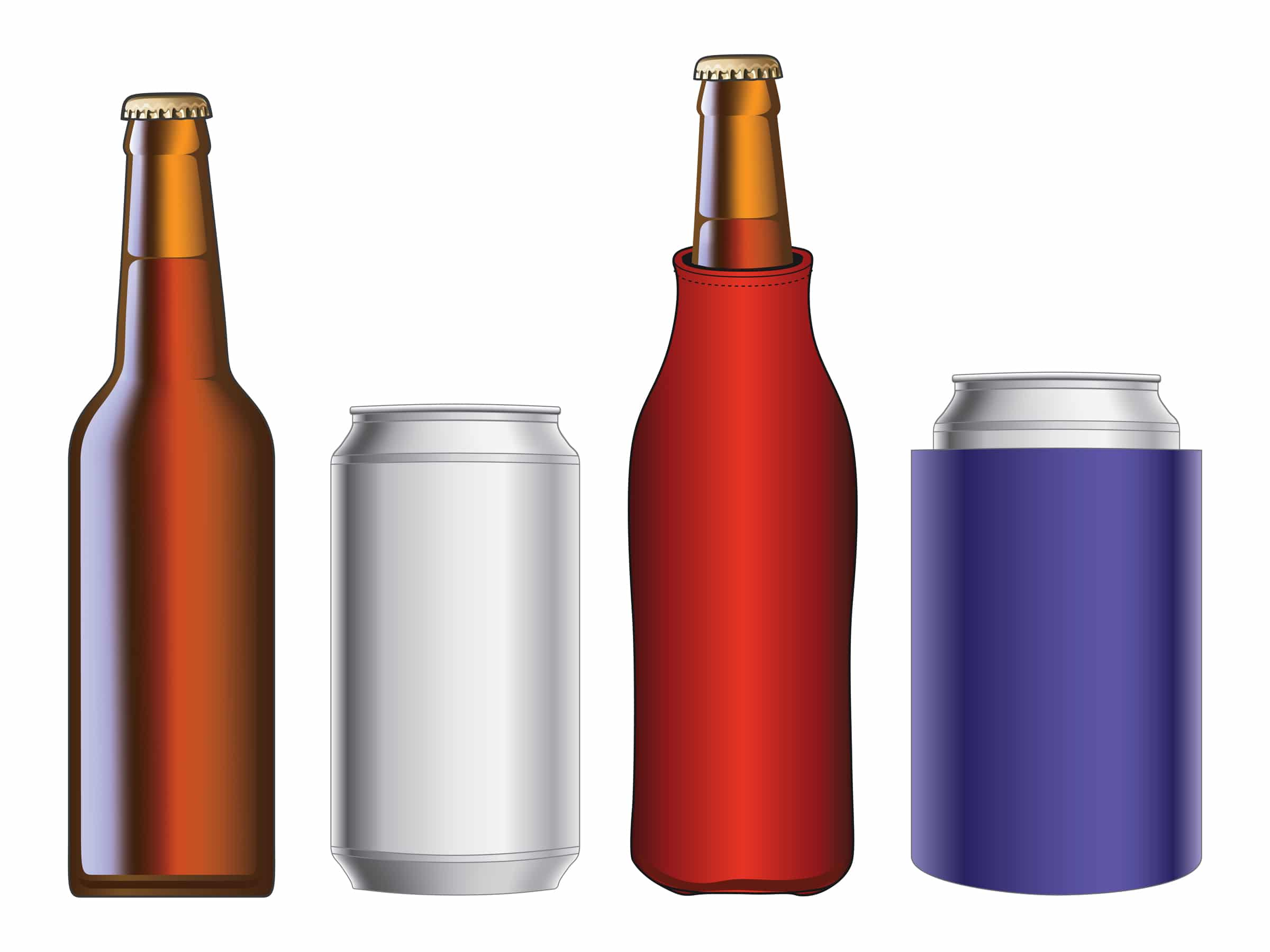 beer bottle coolers and insulators