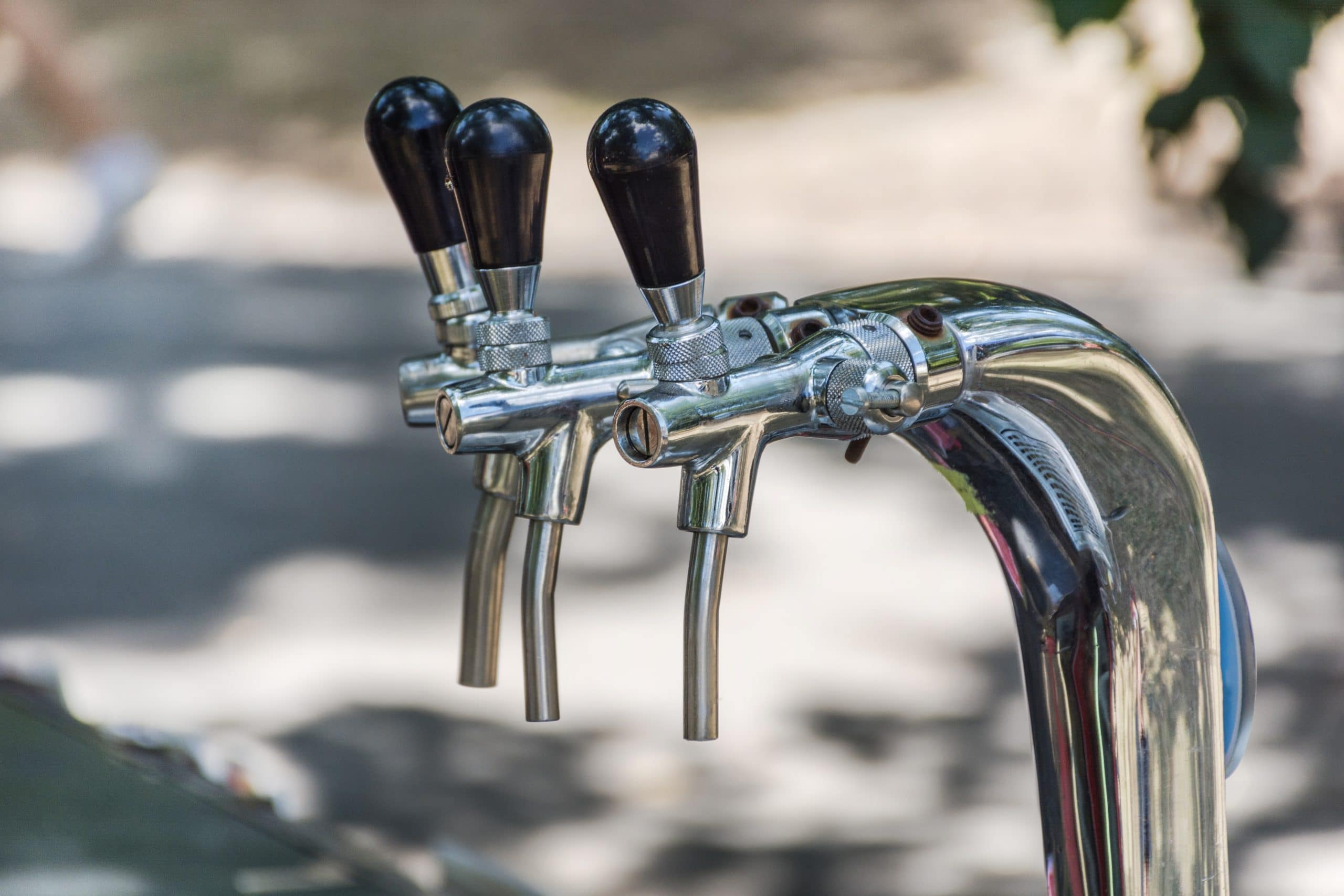 chrome beer taps and faucets