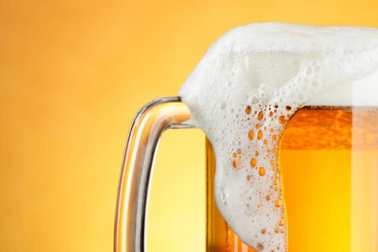 picture of beer mug with foam