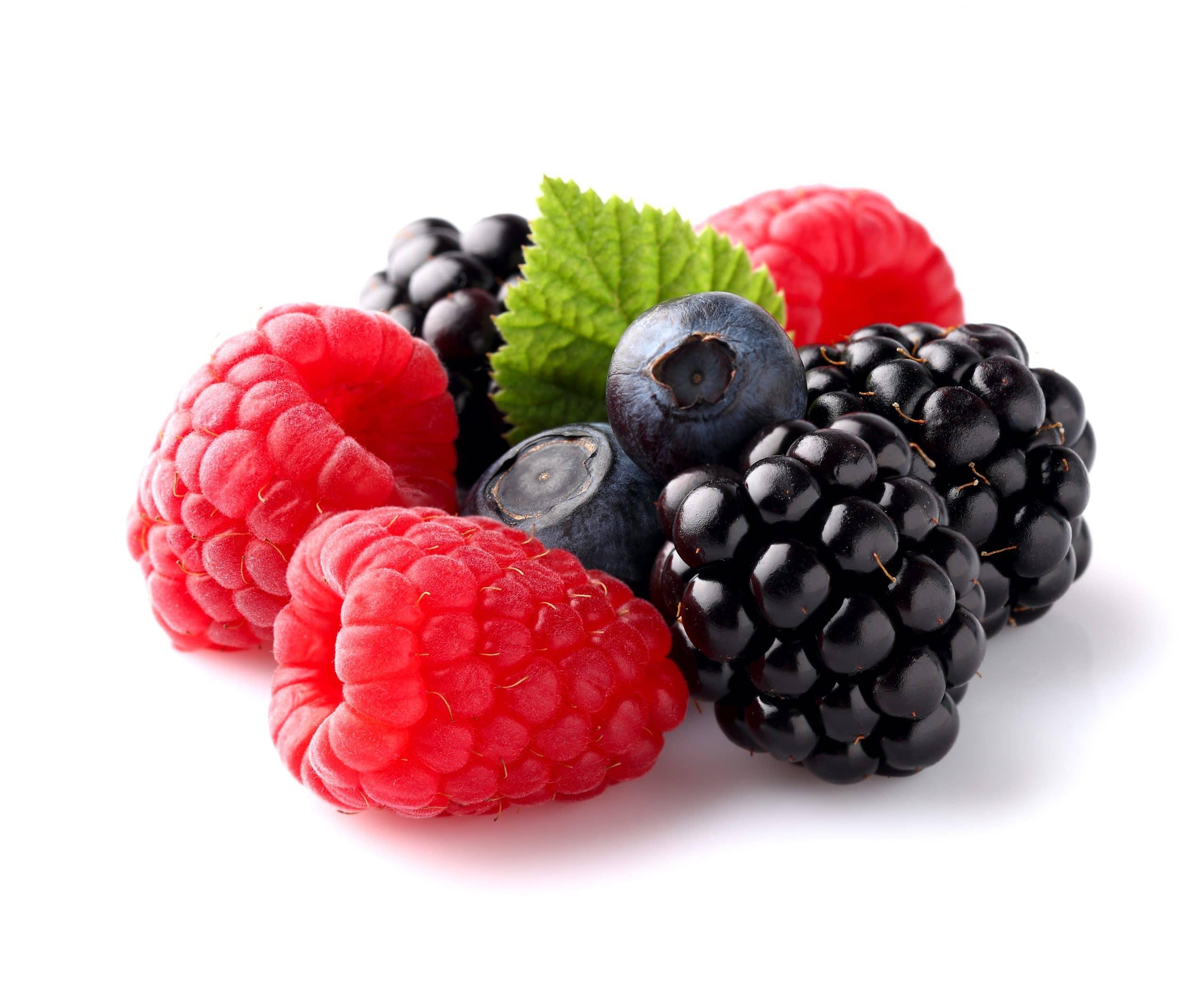 assorted ripe berries