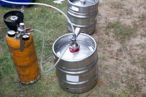 beer kegs with co2 tank